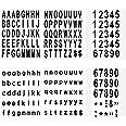 LUTER 210 Stuks 6 Vellen Brievenbus Nummers en Letters Stickers Waterdicht Zelfklevende Stickers voor Brievenbus, Huis, Deur,