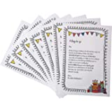 Oye Happy - Birthday Countdown Letters - 7 Greeting Cards for Girlfriend/Boyfriend/Friends to Gift on Birthday