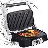 Aigostar Hitte 30HFA - Grill multifonction, plancha, presse à paninis, appareil à sandwichs. 1500W, plaques anti…