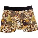 Slip da Uomo Boxer Tigre Animale Uccello Tropicale Intimo Seamless Maschile Tronchi Elasticizzati Traspirante Sacchetto Rigon