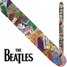 Perri's Leather P25TB6071 The Beatles Ticket To Ride - Tracolla per chitarra, in pelle, 6,35 cm (2,5'')