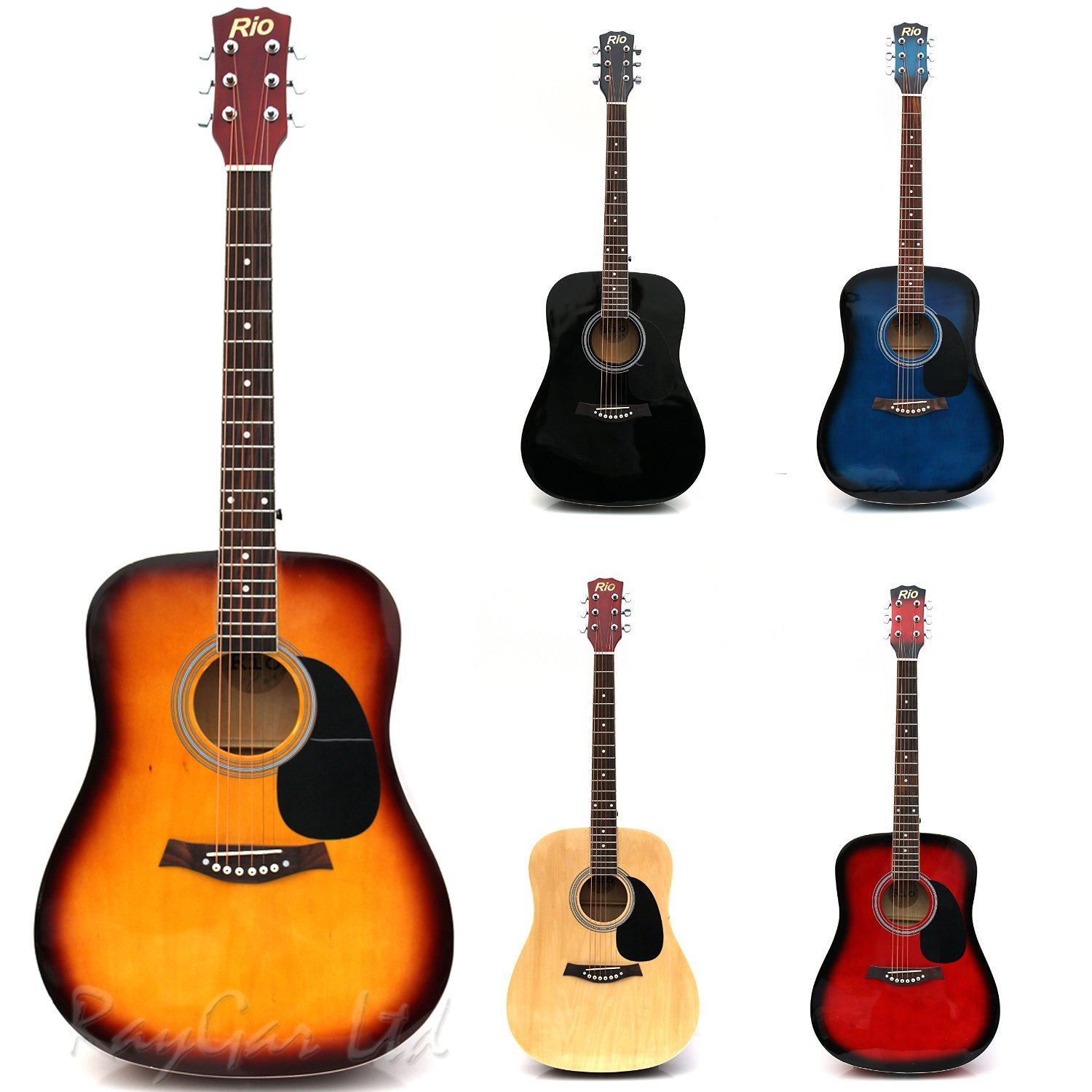 rio natural 4 4 full size 41 acoustic guitar package pack outfit