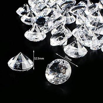 H/&D 40mm Feng Shui Kristall Glas Diamant Klar Deko Glasdiamant Hochzeit Geschenk