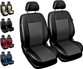 Sitzbezüge Auto Vordersitze Universal Autositzbezüge Schonbezüge Vorne mit Airbag System Comfort - Grau