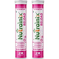 Nutrainix Reload Electrolytes Energy Drink and Instant Hydration Sports Drink - 40 Effervescent Tablets - Berry Flavor