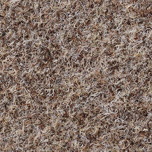 BODENMEISTER BM73501 Teppichboden Nadelfilz Nadelvlies Meterware Objekt beige braun 200 cm und 400 cm breit, verschiedene Längen, Variante: 7 x 4 m
