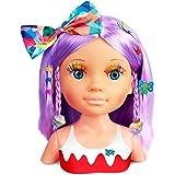 Nancy - Un Día de Secretos de Belleza Violeta, Busto de muñeca con el Pelo Morado y Largo para peinar y maquillar, más de 20