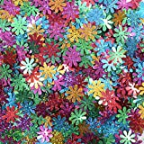 #9: AsianHobbyCrafts Multicolor Sequins: 50gm pack : Flower Design : 1 cm approx