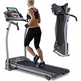 Kinetic Sports Laufband 1100 Watt leiser Elektromotor 12 Pogramme, GEH- und Lauftraining, Tablethalterung, stufenlos einstellbar bis 12 km/h, klappbar