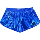 CHICTRY Men's Shiny Leather Metallic Wetlook Boxer Shorts Sport Swim Trunks Underwear