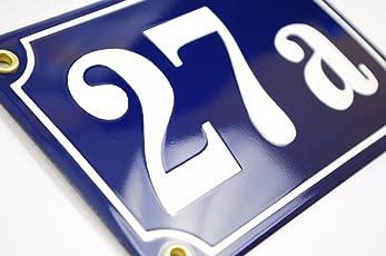 Hausnummer Hausnummernschild Emaille 10x15 cm mit Wunschnummer Premiumqualität