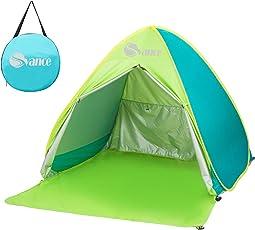 Svance Pop-Up-Zelt, leichtes 2- bis 3-Personen-Zelt für Strand oder Rucksack, mit Tagetasche