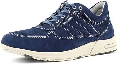 VALLEVERDE Scarpe Sneakers Uomo 17847 Pelle Blu Originale PE 2020 New
