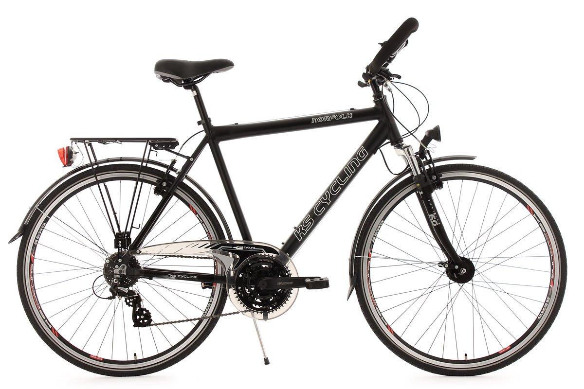 KS Cycling Herren Fahrrad Trekkingrad Norfolk RH 56 cm Multipositionslenker, Sch