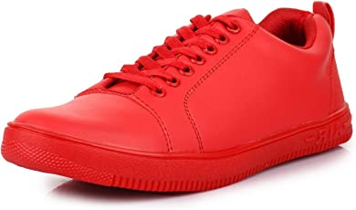 Red Rose Men's Red Stylish Casual Shoes