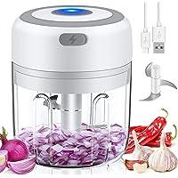 Mini Hachoir Electrique,250ML Mini Mixer Presse ail sans Fil Puissant, Mixeur Portable Blender, Hachoir manuel Avec 3…