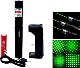 SHOPEE Branded New 532nm SD 100 mw 303 Focus Green Laser Adjustable Pointer with 18650 Battery and Charger