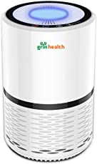 GrinHealth Air Purifier Filtration with True HEPA Filter and Ionizer