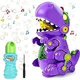 joylink Máquina de Burbujas, Maquina Pompas Jabon con Música y Luz, Automático Máquina Bubble para Niños, Bubble Maker de Din