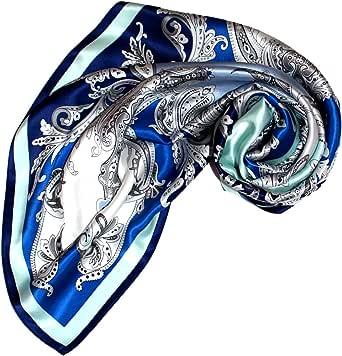 LORENZO CANA panno di lusso donna foulard di seta aufwaendig stampato 100% seta 90cm x 90cm colori armoniosi signora sciarpa, Panno