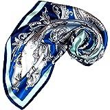 LORENZO CANA panno di lusso donna foulard di seta aufwaendig stampato 100% seta 90cm x 90cm colori armoniosi signora sciarp