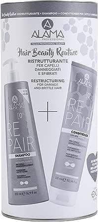Alama Professional Repair Hair Beauty Routine Box, Set Shampoo+Conditioner - 824 ml