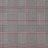 Fabulous Fabrics Strickjacquard Glencheck - rot - Meterware