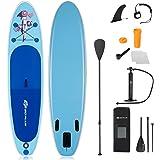 GOPLUS 305 x 76 x 15 cm SUP Paddelboard aufblasbares Surfboard Stand Up Paddel Board Set Surfbrett, mit Pumpe, Paddel und Ruc