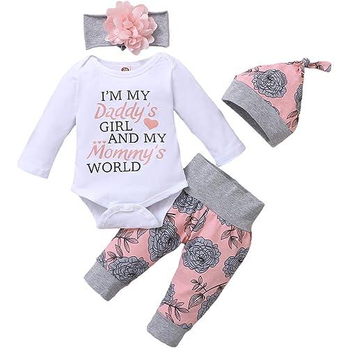 3 PCS Bambina Completini e Coordinati Neonata Top + Pantaloni + Headband Prima Infanzia Abbigliamento