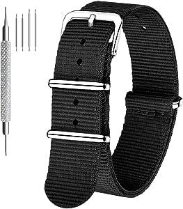 CIVO Cinturino Orologio Nato Nylon Cinturini per Orologio da Uomo Donna Cinghia Strap con Fibbia in Acciaio Inox 18mm 20mm 22mm