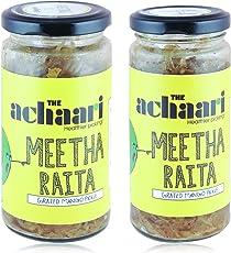 The Achaari Meetha Raita Grated Mango Pickle, Combo Pack (400 Grams + 250 Grams Free)