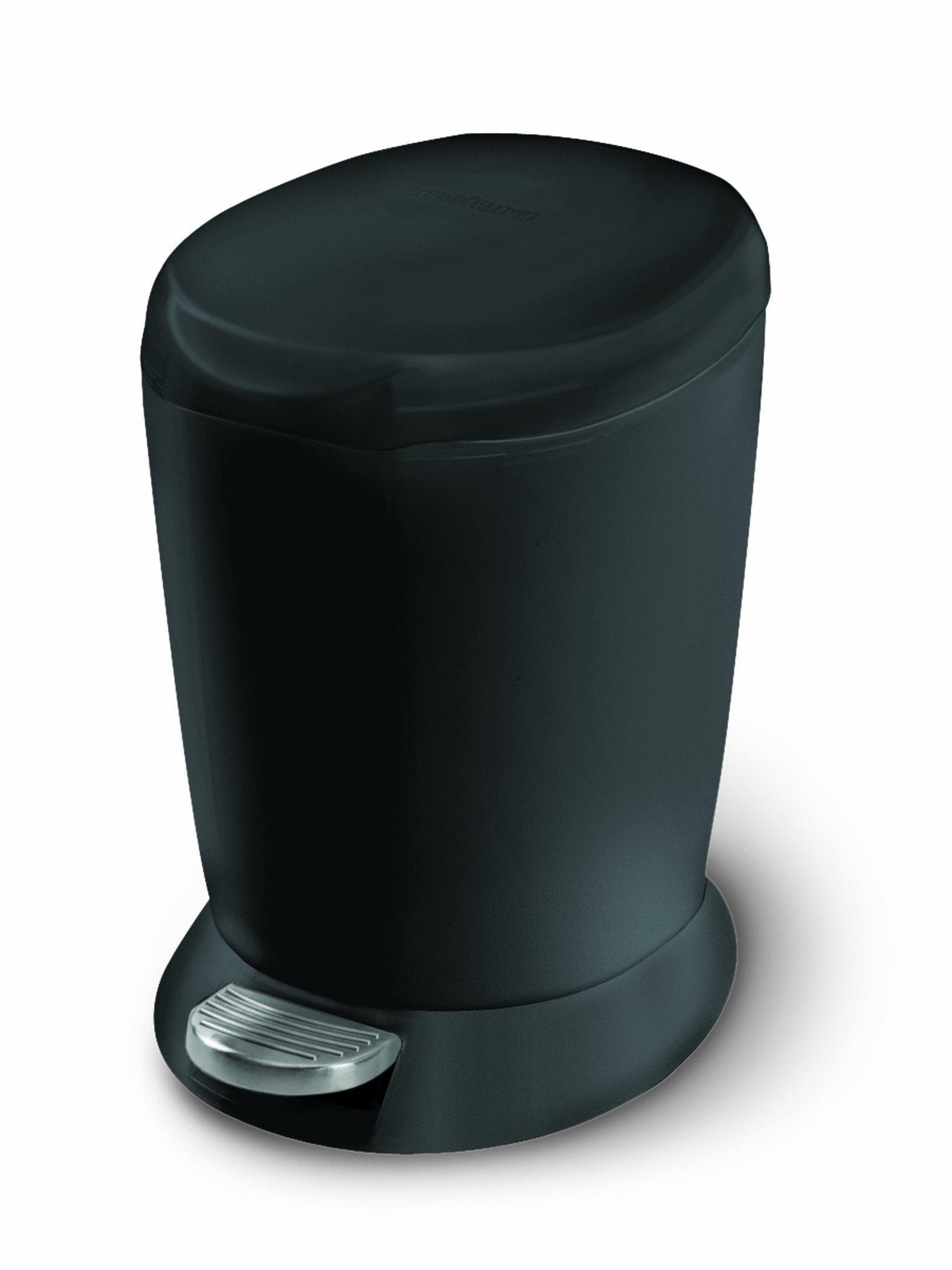 Simplehuman - Mini pattumiera a pedale in plastica, colore: Nero, 6 L
