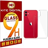 Kite Digital Compatible with iPhone 11 Back Premium Tempered Glass Screen Protector Slim 9H Hard 2.5D