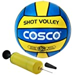 DealBindaas Combo of Cosco Shot VolleyBall with High Pressure Hand Pump -4