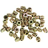Viti a esagono incassato per mobili M4 * 8mm Dadi a testa esagonale filettati in lega di zinco 50Pcs per inserti in legno