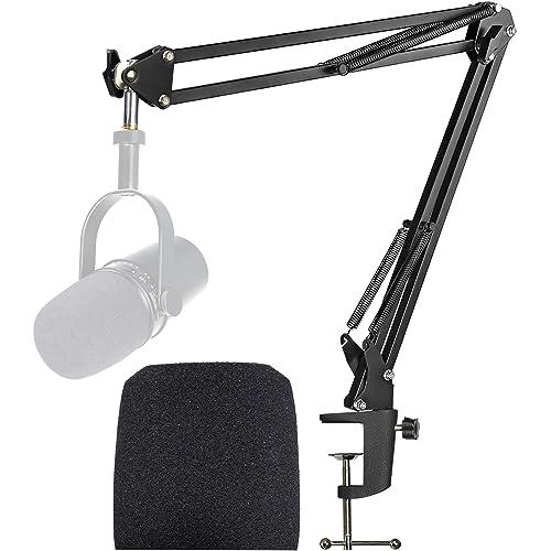 Shure MV7 Boom Arm con Filtro Anti-pop - Supporto per microfono con Parabrezza in Schiuma Compatibile con Microfono Shure MV7 di YOUSHARES