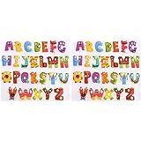 Healifty 2 Hojas de Hierro Lindo en Parches de Apliques Letras Alfabeto Pegatinas de Transferencia de Calor para Ropa Chaquet