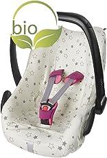 ByBoom - Sommerbezug, Schonbezug für Babyschale aus 100% BIO-Baumwolle mit Motiv, Universal für z.B. Maxi-Cosi, CabrioFix, Pebble, City SPS