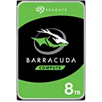 Seagate BarraCuda, interne Festplatte 8 TB HDD, 3.5 Zoll, 5400 U/Min, 256 MB Cache, SATA 6 Gb/s, silber, Modellnr…