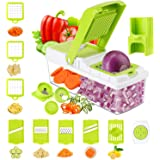 TOROTON Vegetable Chopper Slicer Dicer, 14 in 1 Veggie Food Cutter Onion Chopper Spiralizer Vegetable Slicer, Manual Mandolin