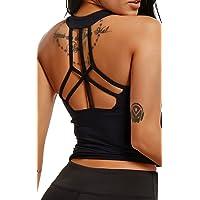 FITTOO Débardeur Femme Yoga Gilet Sport T-Shirt Extensible sans Manches Dos Nu Top Sexy pour Sport Fitness Gym Running…