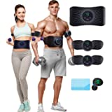 CHENAN Elettrostimolatore Muscolare,EMS Stimolatore Addominale, Elettrostimolatore per Addominali,Cinture tonificanti,Addome/
