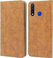 Jkobi Synthetic Leather Flip Case Cover For Vivo U20 / Vivo U3 -Lava Brown