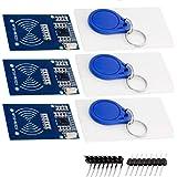 AZDelivery 3 x RFID Kit RC522 met Reader, Chip en Card 13.56MHz SPI compatibel met Arduino en Raspberry Pi Inclusief E-Book!