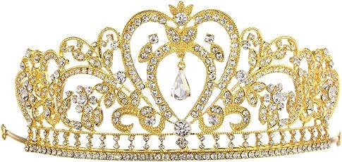 Awakingdemi Princess Tiara Crown, Plated Diamond Jewelry Wedding Crown Crystal Bridal Tiara Headpiece Headban