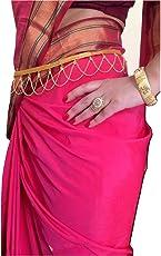 Womensky Traditional Gold Polished Kamarpatta Waist Chain For Women