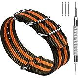 Fullmosa Cinturini per Orologio, Cinturino in Nylon 22/20/18mm, Fibbia in Acciaio Inossidabile, Compatible con Amazfit/Huawei