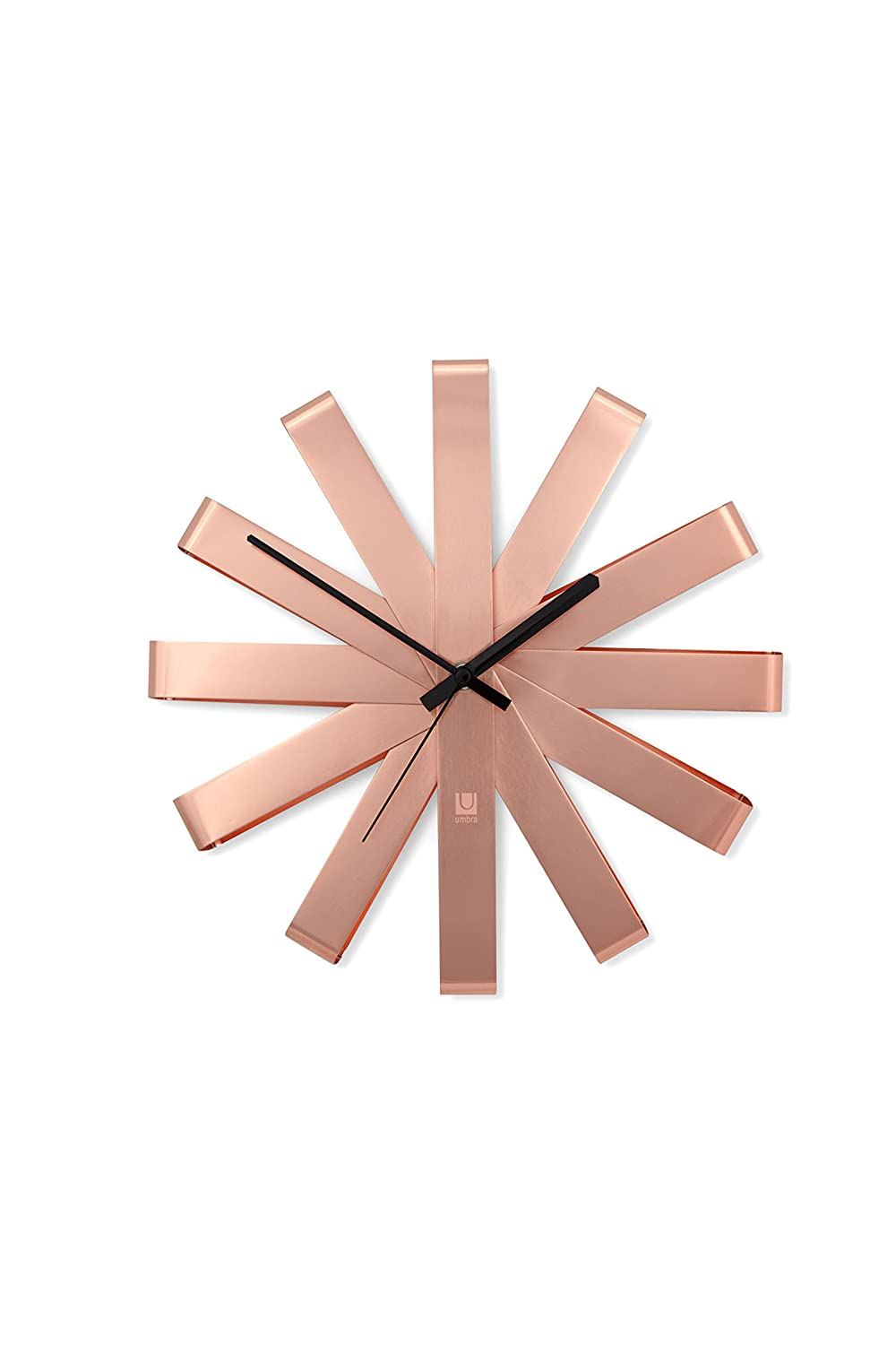 UMBRA Ribbon Wall Clock Black Amazoncouk Kitchen Home