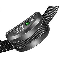 Collier Anti-aboiement Chien - 3 Modes Choc Électrique/Vibration/Sensibilité Aide au Dressage Inoffensif Automatique…