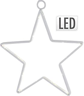 LED Leuchte Stern wei/ß 20 LED/´s Batteriebetrieb 38cm Weihnachtsstern